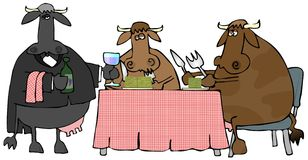 Pranzo del manzo illustrazione di stock
