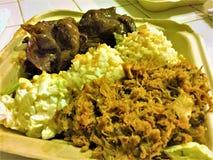 Pranzo del piatto della carne di maiale di Kalua del hawaiano Immagini Stock Libere da Diritti