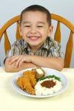 Pranzo del pollo fritto Fotografia Stock