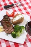 Pranzo della bistecca Fotografia Stock Libera da Diritti