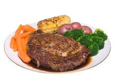 Pranzo della bistecca Fotografie Stock Libere da Diritti