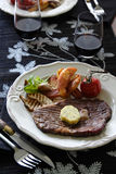 Pranzo della bistecca Fotografie Stock