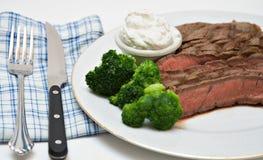 Cena della bistecca di Beek fotografie stock libere da diritti