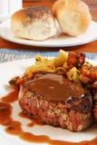 Pranzo della bistecca di raccordo Fotografia Stock