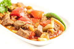 Pranzo della carne - immagine di riserva Immagine Stock