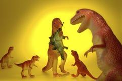 Pranzo della famiglia del dinosauro Fotografia Stock Libera da Diritti