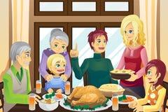 Pranzo della famiglia di ringraziamento Fotografia Stock Libera da Diritti