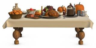Pranzo di Thanksgving Fotografia Stock Libera da Diritti