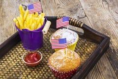 Pranzo festa dell'indipendenza sul 4 luglio Immagine Stock