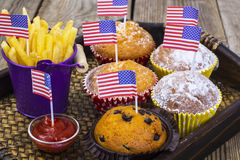 Pranzo festa dell'indipendenza sul 4 luglio immagini stock