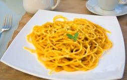 Pranzo italiano degli spaghetti Immagine Stock Libera da Diritti