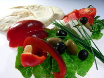 Pranzo mediterraneo Fotografia Stock