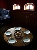 pranzo modesto per cinque genti Immagine Stock