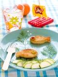 Pranzo per i bambini Fotografia Stock