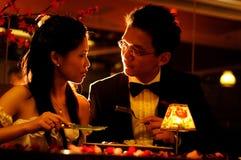 Pranzo romantico Fotografia Stock