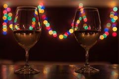 Pranzo romantico dell'indicatore luminoso della candela Immagini Stock Libere da Diritti