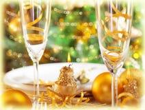 Pranzo romantico di festa Immagini Stock