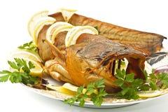 Pranzo saporito - pesce gatto d'acqua dolce (siluri europei) Fotografia Stock Libera da Diritti