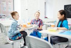 Pranzo a scuola Fotografie Stock Libere da Diritti