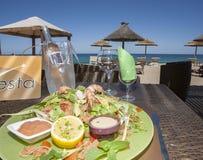 Pranzo sulla spiaggia Immagine Stock Libera da Diritti