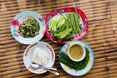Pranzo tailandese tradizionale Immagine Stock