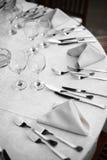 Pranzo in un ristorante Fotografie Stock