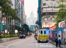 Praparation pendant la nouvelle année chinoise en Hong Kong photos stock