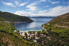 Prapratno bay on Peljesac peninsula Royalty Free Stock Photo