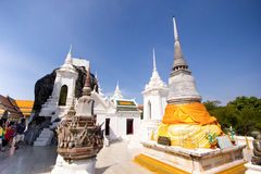 Praputthabat temple the famous temple in Saraburi,Thaialnd Stock Photos