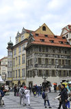 Praque,August 29:Old Town plaza from Prague in Czech Republic royalty free stock photo