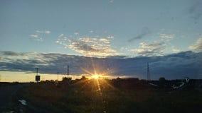 Prarie solnedgång royaltyfri fotografi