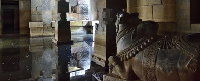 Prasanna Virupaksha Underground Shiva Temple, Hampi Fotos de archivo libres de regalías