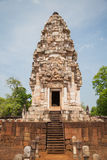Prasart Sadokkokthom, castello antico in Tailandia Fotografia Stock