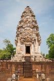 Prasart Sadokkokthom, forntida slott i Thailand Arkivbild