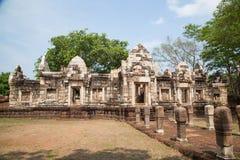 Prasart Sadokkokthom, forntida slott i Thailand Royaltyfri Foto