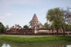 Prasart Sadokkokthom, forntida slott i Thailand Royaltyfri Bild