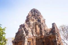 Prasat巴南寺庙在马德望,柬埔寨 免版税库存照片