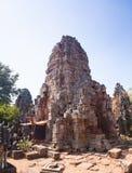 Prasat巴南寺庙在马德望,柬埔寨 库存图片