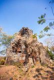 Prasat Banan temple in  Battambang, Cambodia. Southeast Asia royalty free stock images