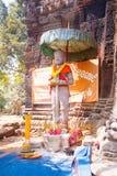 Prasat Banan temple in  Battambang, Cambodia. Southeast Asia royalty free stock photos