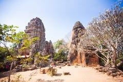Prasat Banan temple in  Battambang, Cambodia. Southeast Asia stock photography