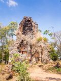 Prasat Banan temple in  Battambang, Cambodia. Southeast Asia stock photo