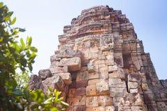 Prasat Banan temple in  Battambang, Cambodia. Southeast Asia royalty free stock photography