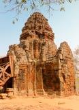 Prasat Banan temple. Sanctuary Pagoda Prasat Banan temple Battambang, Cambodia, Southeast Asia stock photo