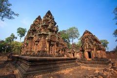 Prasat banteay Srei. At Cambodia Royalty Free Stock Images