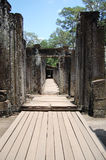 Prasat Bayon在吴哥的高棉寺庙在暹粒柬埔寨 图库摄影