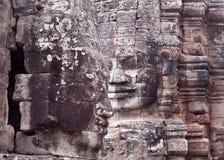 Prasat Bayon寺庙在吴哥城,柬埔寨 库存图片