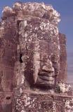 Prasat Bayon寺庙在吴哥城,柬埔寨 免版税库存图片