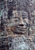 Prasat Bayon寺庙在吴哥城,柬埔寨 免版税图库摄影