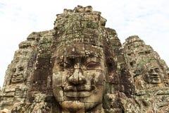 Prasat Bayon或Bayon寺庙是一个富有地装饰的高棉寺庙 库存照片
